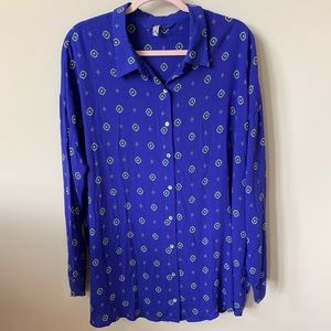 Free people patterned button down #89